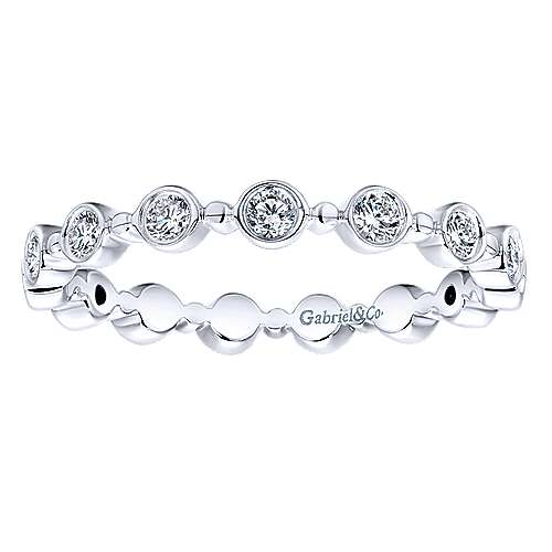 14k White Gold Stackable Eternity Ladies' Ring angle 4