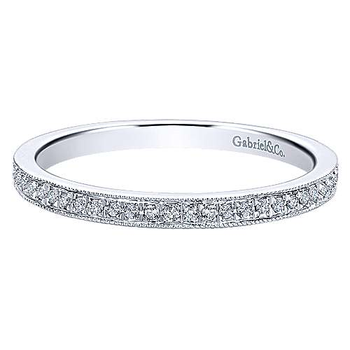 Gabriel - 14k White Gold Stackable Eternity Ladies' Ring