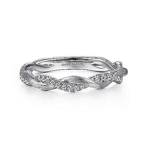 Gabriel - 14k White Gold Stackable Ladies' Ring