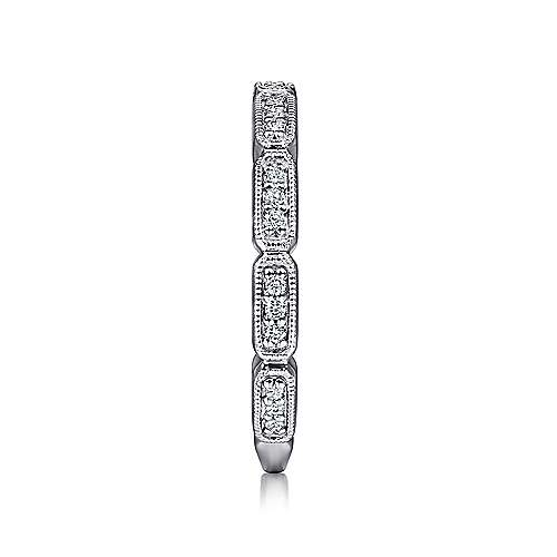 14k White Gold Stackable Ladies' Ring angle 4