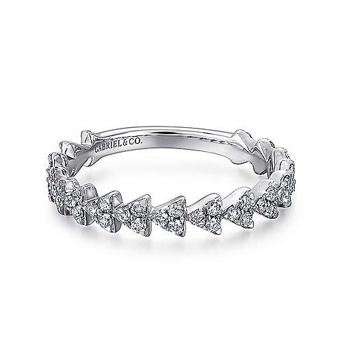 Gabriel - 14k White Gold Stackable Ladies Ring