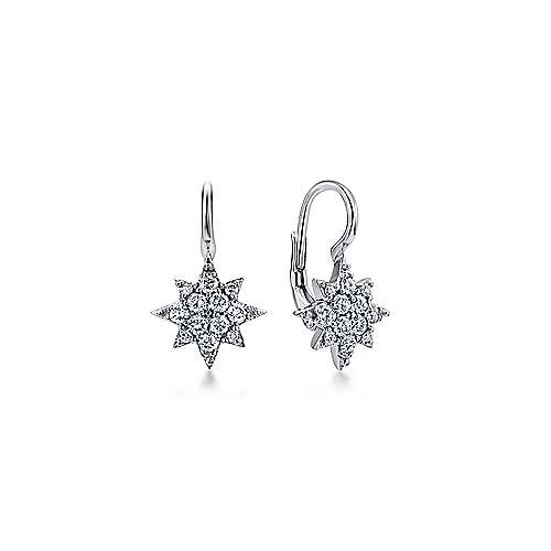 14k White Gold Starlis Drop Earrings angle 1