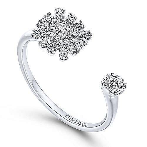 14k White Gold Starlis Fashion Ladies' Ring angle 3