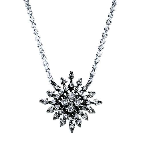 Gabriel - 14k White Gold Starlis Fashion Necklace