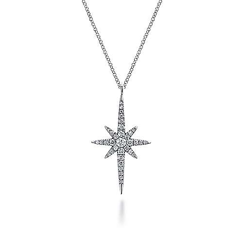 14k White Gold Starlis Fashion Necklace