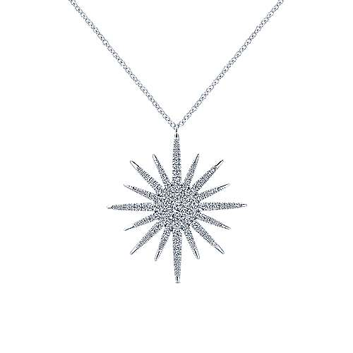14k White Gold Starlis Fashion Necklace angle 1