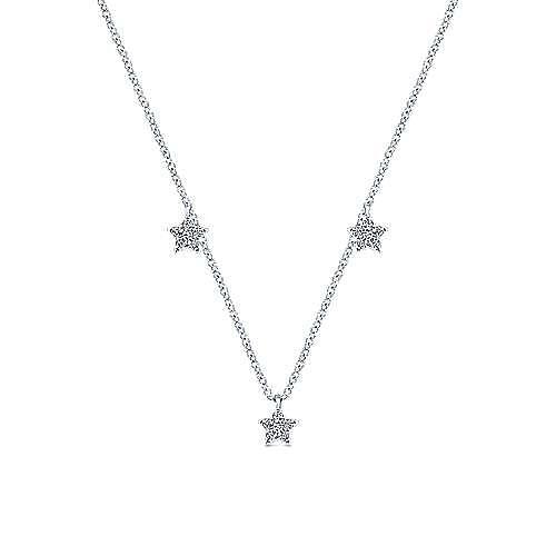 14k White Gold Starlis Fashion Necklace angle 1