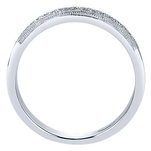14k White Gold Straight Anniversary Band angle 2