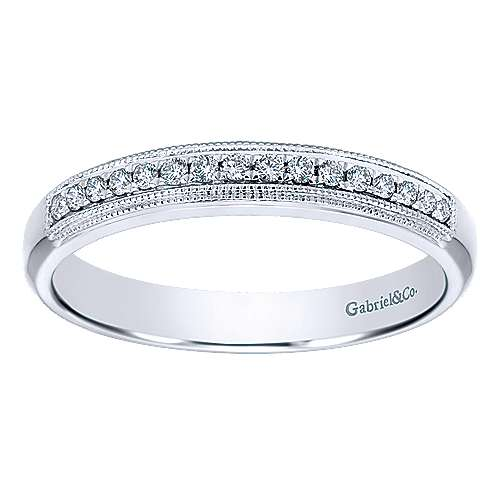 14k White Gold Straight Anniversary Band angle 5