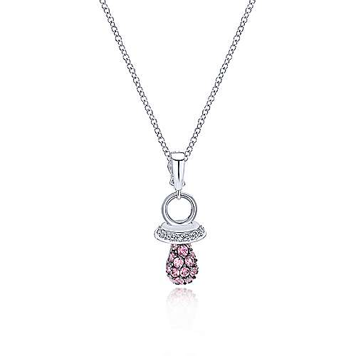 14k White Gold Treasure Chests Charm Pendant angle 3