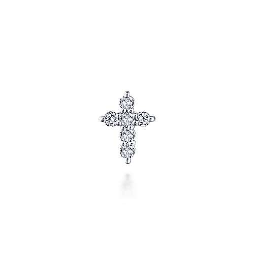 14k White Gold Treasure Chests Locket Charm Pendant