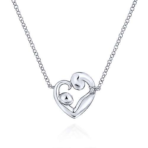 14k White Gold Treasure Chests Mommy And Me Necklace