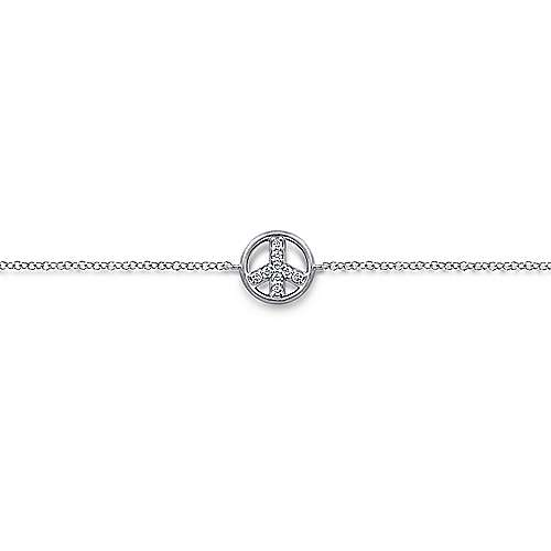 Gabriel - 14k White Gold Trends Chain Bracelet