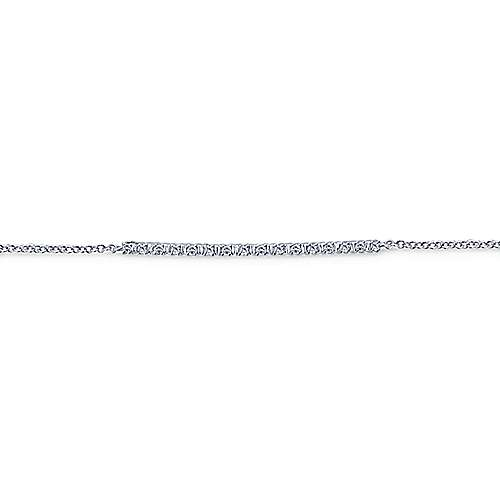 14k White Gold Trends Chain Bracelet angle 2