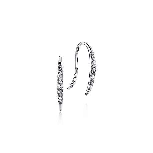 14k White Gold Trends Earcuffs Earrings angle 1