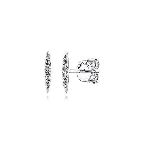 Gabriel - 14k White Gold Trends Stud Earrings