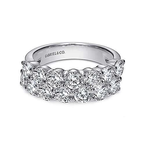 Gabriel - 14k White Gold Two Row Anniversary Band