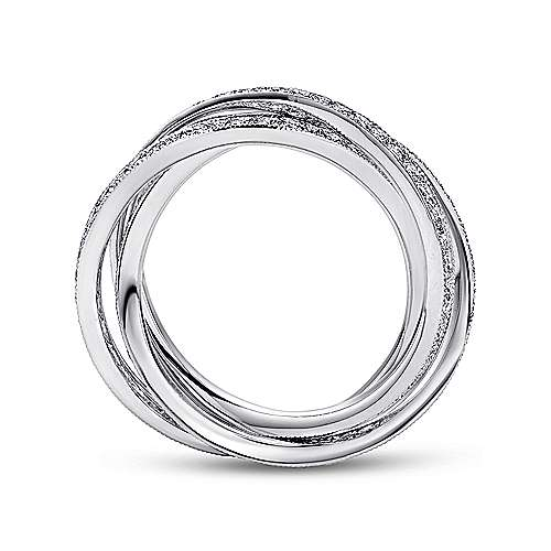 14k White Gold Victorian Eternity Anniversary Band angle 2