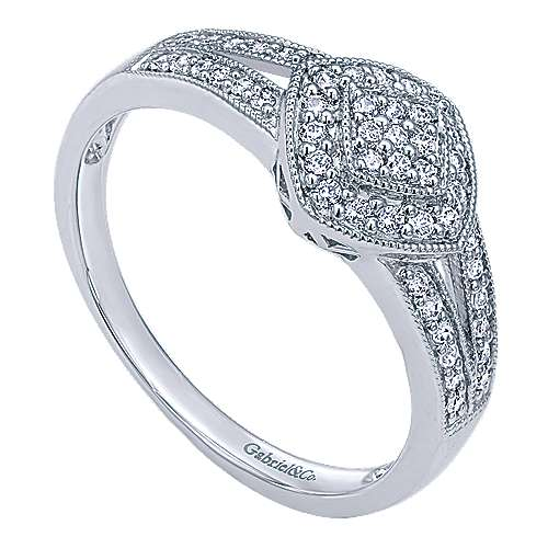 14k White Gold Victorian Fashion Ladies' Ring angle 3