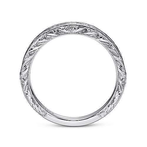 14k White Gold Victorian Straight Anniversary Band angle 2