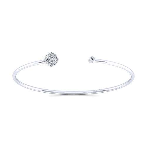 Gabriel - 14k White Gold Wire Bangle Bangle
