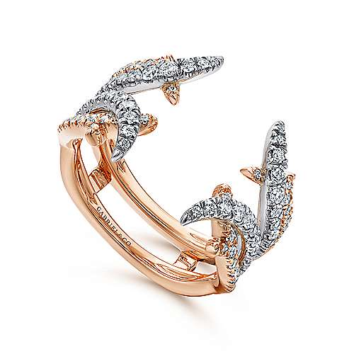 14k White and Rose Gold Diamond Enhancer