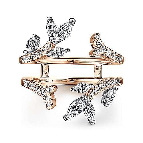 14k White and Rose Gold Diamond Enhancer