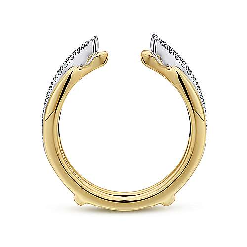 14k Yellow And White Gold Contemporary Enhancer Anniversary Band angle 2