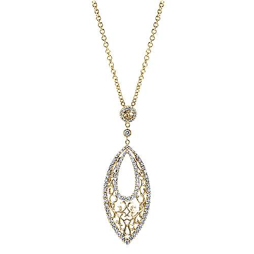 Gabriel - 14k Yellow And White Gold Flirtation Fashion Necklace
