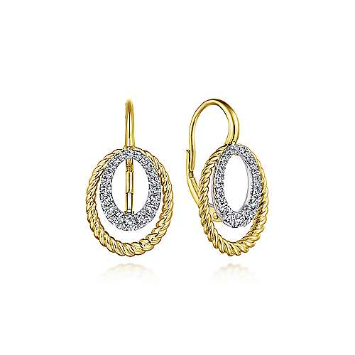 Gabriel - 14k Yellow And White Gold Hampton Drop Earrings