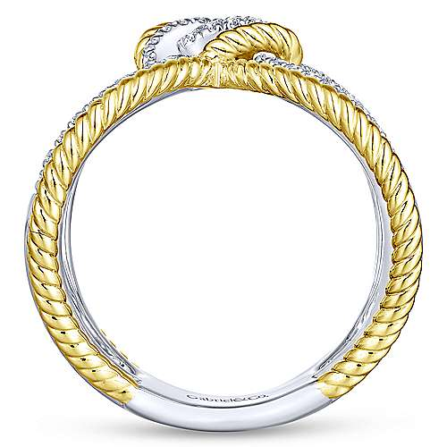 14k Yellow And White Gold Hampton Fashion Ladies' Ring angle 2