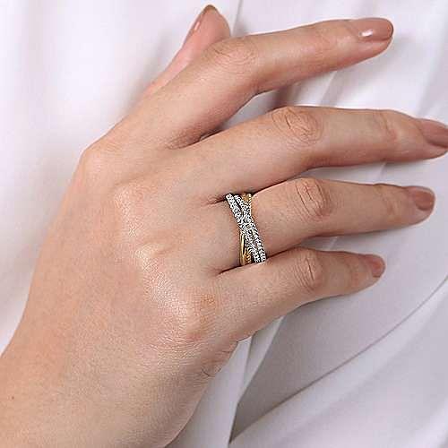 14k Yellow And White Gold Hampton Fashion Ladies Ring