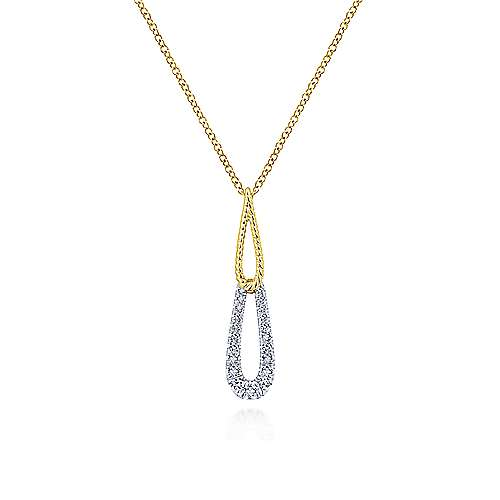 Gabriel - 14k Yellow And White Gold Hampton Fashion Necklace