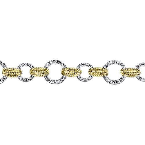 14k Yellow And White Gold Hampton Tennis Bracelet angle 2