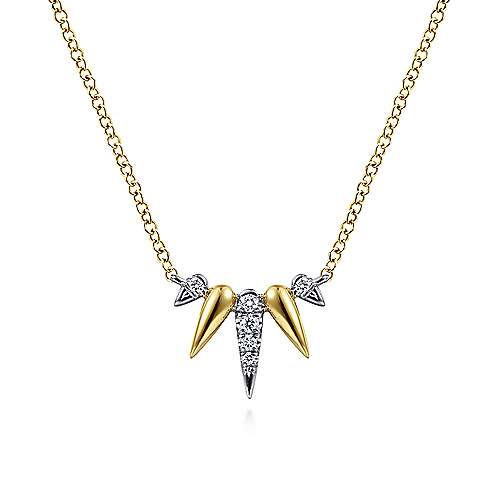 14k Yellow And White Gold Kaslique Fashion Necklace