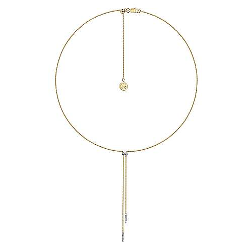 14k Yellow And White Gold Kaslique Y Knots Necklace