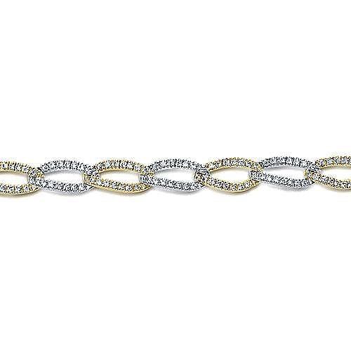 14k Yellow And White Gold Lusso Diamond Tennis Bracelet angle 2