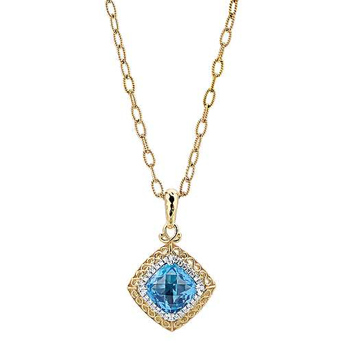 14k Yellow And White Gold Mediterranean Fashion Necklace angle 1