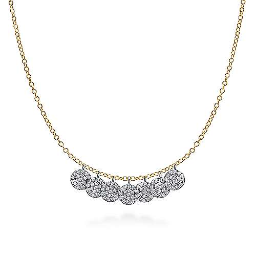 Gabriel - 14k Yellow And White Gold Silk Fashion Necklace
