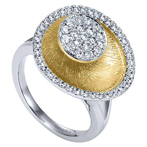 14k Yellow And White Gold Souviens Fashion Ladies' Ring angle 3