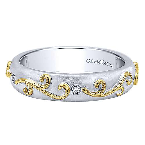 14k Yellow And White Gold Stackable Ladies' Ring angle 1