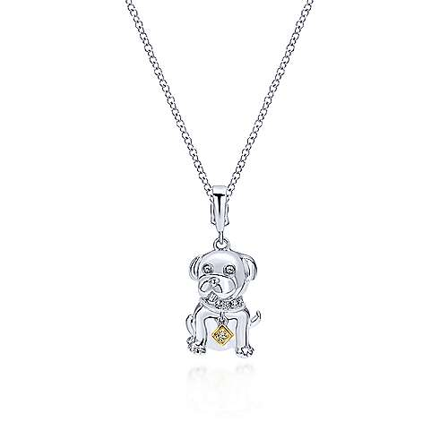 14k Yellow And White Gold Treasure Chests Charm Pendant angle 3