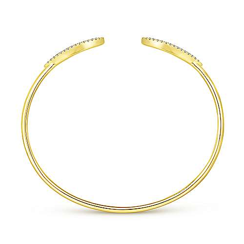14k Yellow Gold Art Moderne Bangle angle 3