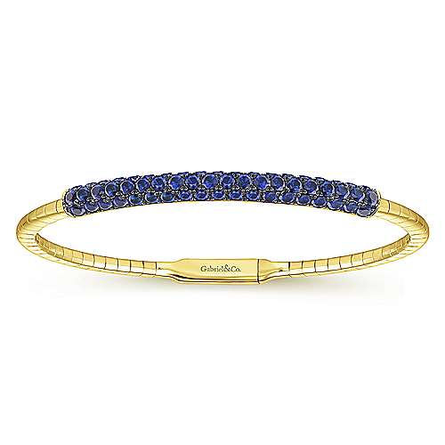 Gabriel - 14k Yellow Gold Bangle