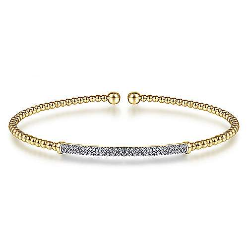 14k Yellow Gold Bujukan Bangle