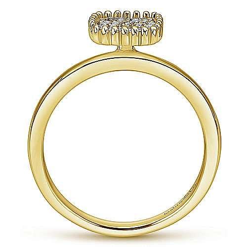14k Yellow Gold Bujukan Fashion Ladies' Ring angle 2