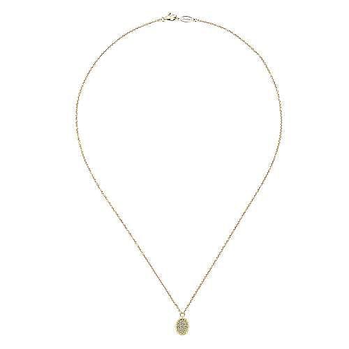 14k Yellow Gold Bujukan Fashion Necklace angle 2