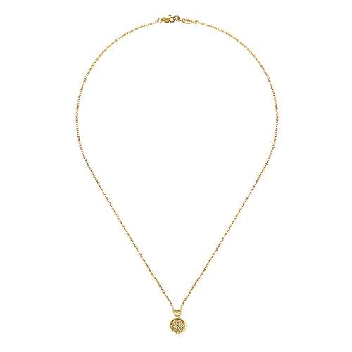 14k Yellow Gold Bujukan Fashion Necklace angle 2