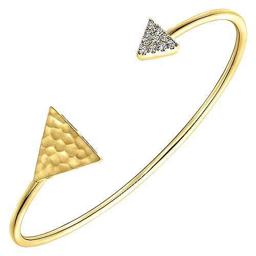 14k Yellow Gold Byblos Bangle angle 2