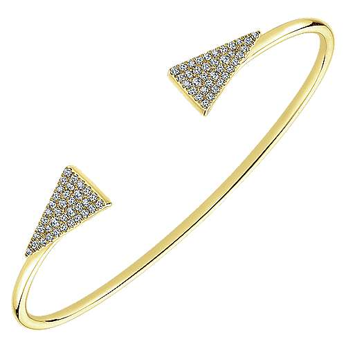 14k Yellow Gold Byblos Bangle angle 2
